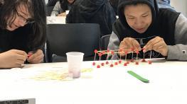 Sherbrooke Public School Students - Bridge Building with Civil Students