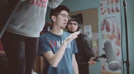 Student Chen Zhang works on his film 'Gamer'