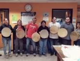 Students and Doug with their completed Hand Drums