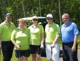 The SUCCI team of golfers pose with Jim Madder at this year's golf tournament.