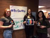 CYC Program students proclaiming their Ally status.