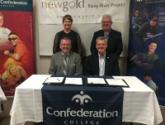 Confederation College and New Gold Representative sign a collaboration framework agreement