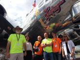 """Staff & Volunteers at ACE with the """"Sentimental Journey"""""""