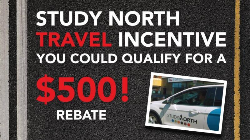 Study North travel incentive