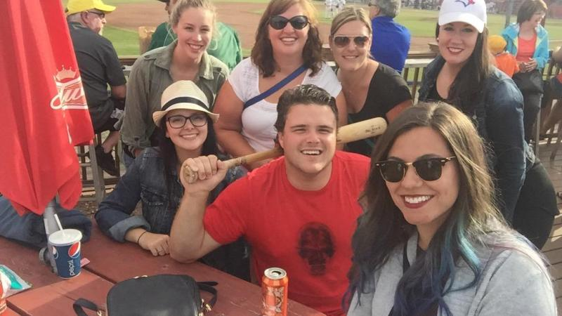 Study North and Confederation employees taking in the Bordercats baseball game