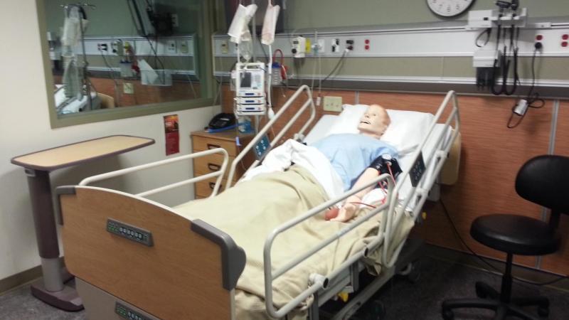 Nursing Simulation Lab with hi-tech manikins