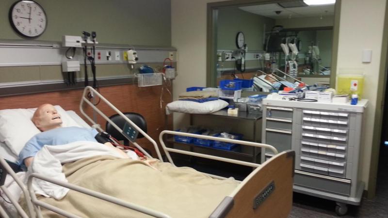 Nursing lab realistic, hi-tech manikins