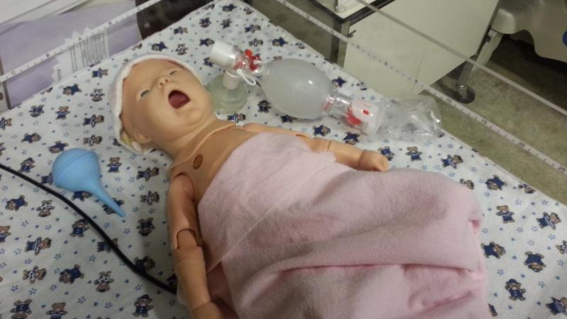 Nursing Simulation Lab with hi-tech baby manikin