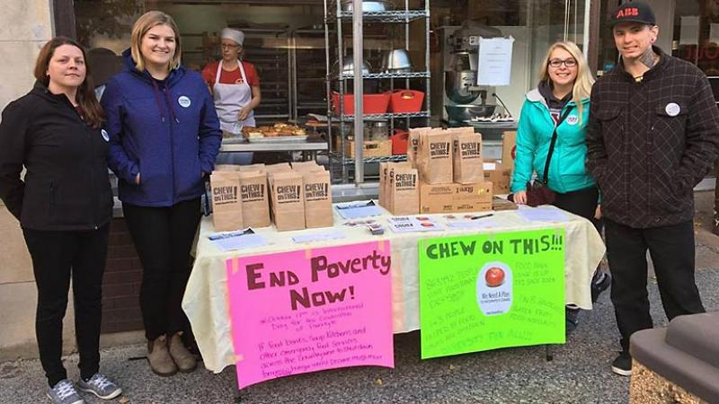 End Poverty Now - Chew on This campaign