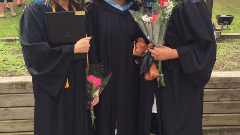 Pam Burton with 2017 Graduates