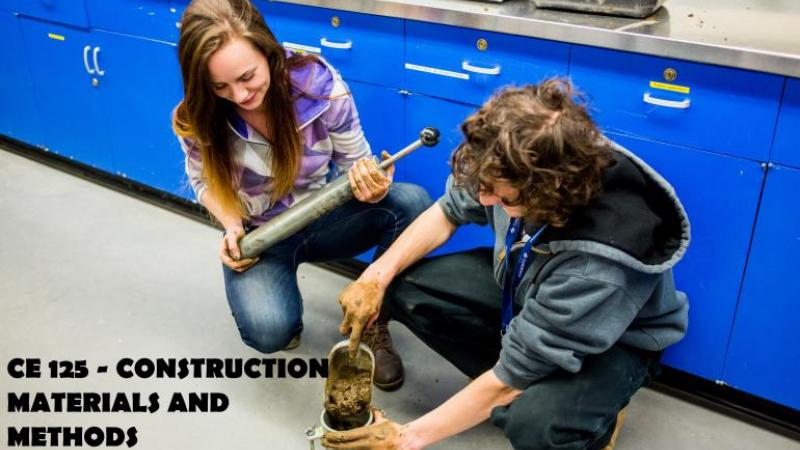 CE125 - Construction Materials and Methods - Proctor compaction test