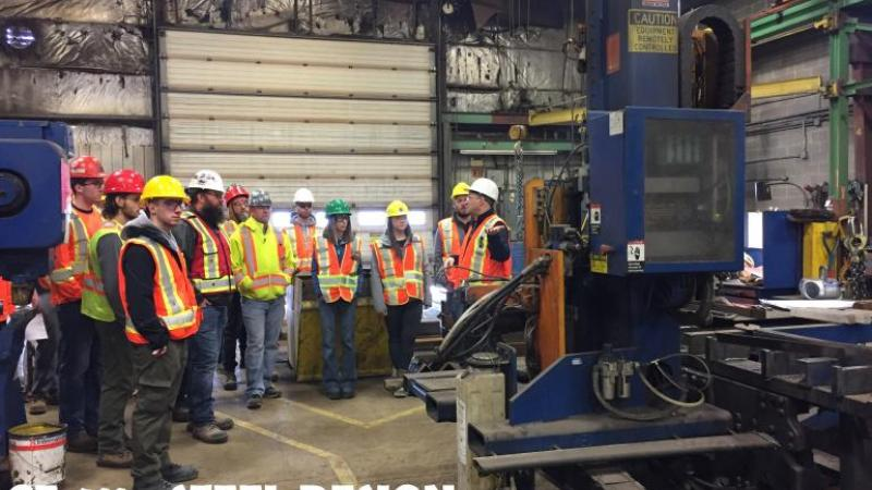 CE411 - Steel Design- site visit to coastal steel's fabrication facility