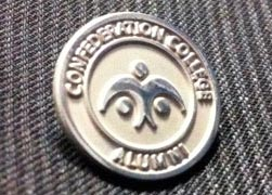 photo of alumni pin